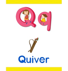 Learning Alphabet Q vector image