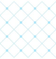 Light Blue Square Diamond Grid White Background vector image