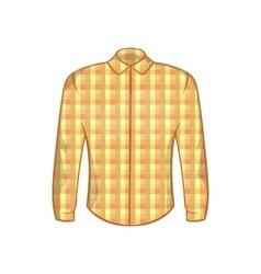 Lumberjack shirt icon cartoon style vector