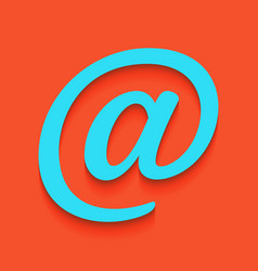 Mail sign whitish icon on vector