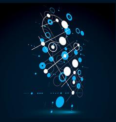 Modular bauhaus 3d blue background created from vector