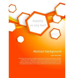 Orange hexagons vector image
