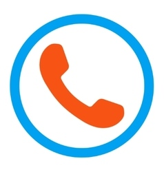 Phone receiver rounded icon vector