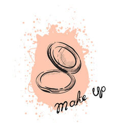 Powder makeup vector