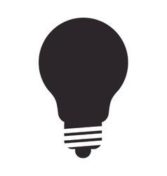 Regular lightbulb icon vector