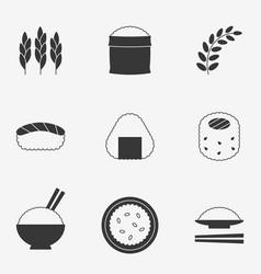 rice icon silhouette design icon vector image vector image