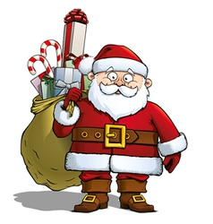 Santa with Sack vector image vector image