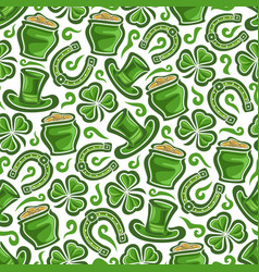 Seamless pattern on st patricks day theme vector