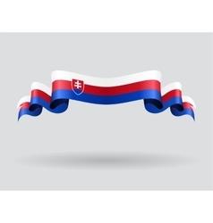 Slovakian wavy flag vector image vector image