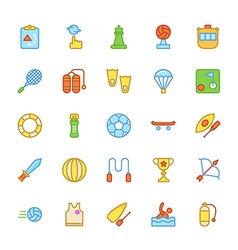 Sports colored icons 3 vector