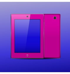 Tablet pc color pink vector image