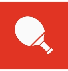 Tennis icon Game symbol Flat vector image vector image