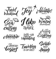 typography hand writing set motivation words and vector image vector image