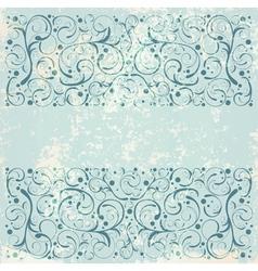 Vintage floral decorative background vector