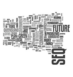 Which future for south east queensland text word vector