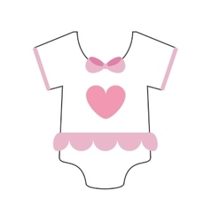 Girly baby onesie icon vector