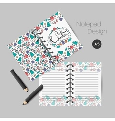 Christmas planner template vector