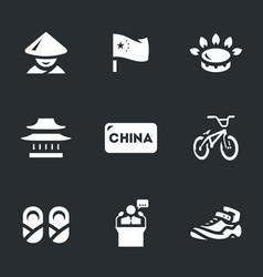 set of china icons vector image