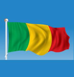 Flag of mali vector