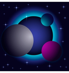 Abstract space background vector