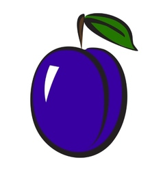 Plum icon vector