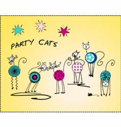 party cats vector image