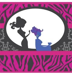 Hairdressing salon card vector