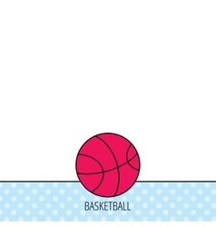 Basketball icon sport ball sign vector