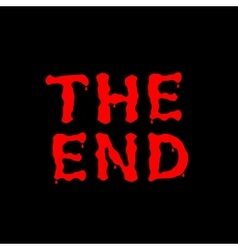 THE END text vector image