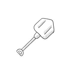 Shovel sketch icon vector image