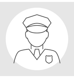 Police officer avatar vector image