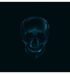 A human skull x-ray print medical conce vector
