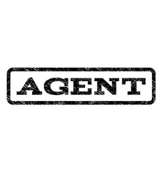 agent watermark stamp vector image