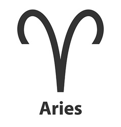 Aries ram zodiac sign icon vector