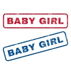 Baby girl rubber stamps vector
