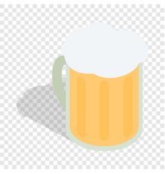 Beer mug isometric icon vector
