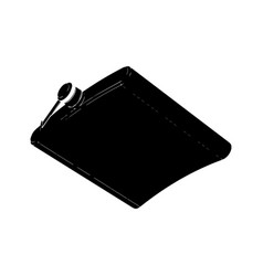 black flask for alcohol vector image