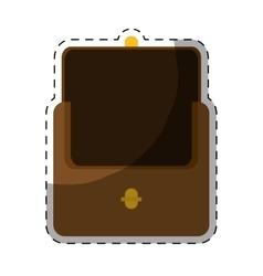 Brown wallet icon vector