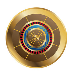 Casino gambling roulette wheel playful vector