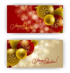 Christmas background with baubles for inviations vector