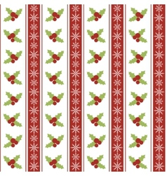 Christmas seamless pattern with holly berries and vector image