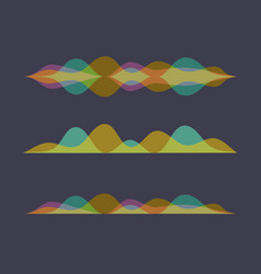 Color set of sound waves equalizer design vector