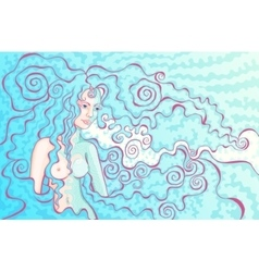 fantasy girl vector image vector image