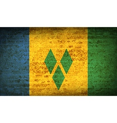 Flags Saint Vincent Grenadines with dirty paper vector image