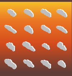 flat icons clouds isometric vector image