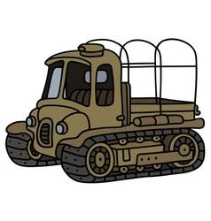 Funny old artillery tractor vector