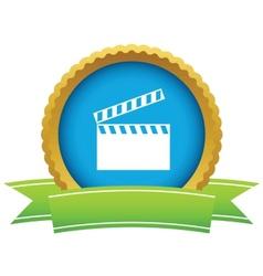 Gold cinema logo vector