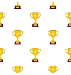 gold cup pattern flat vector image