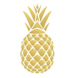 Golden pineapple vector