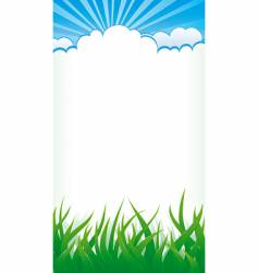 grass and clouds vector image vector image